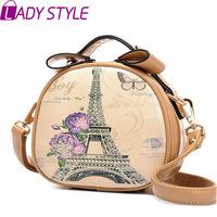 fashion vintage graffiti women handbag circular messenger Bags shoulder bags handbags women famous brands new 2015 HL3617