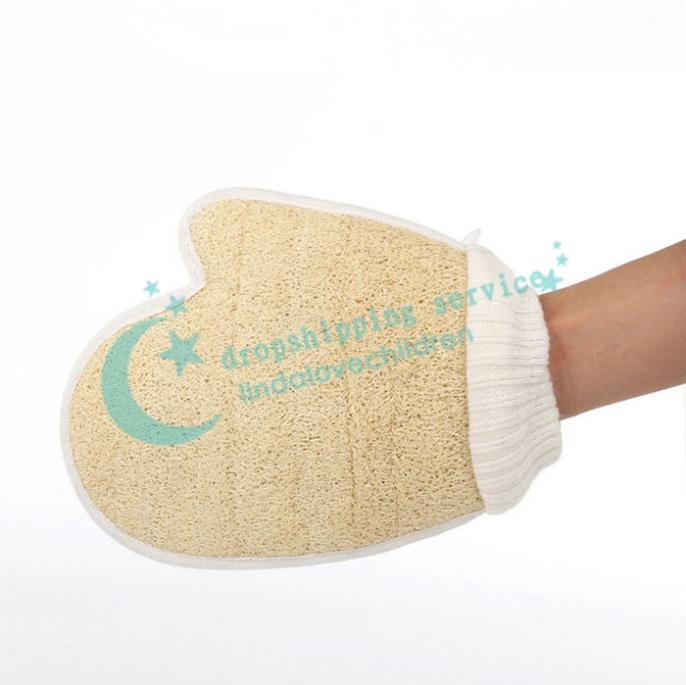Bathroom Products Natural Convenient Practical Loofah Bath Rub Bath Glove Free Shipping(China (Mainland))