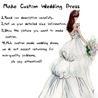 Customs made wedding dress 100% actual image vestido de noiva custom made according to your own size information