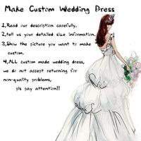 Customs made wedding dress 100% actual image vestido de noiva custom made according to your own size information