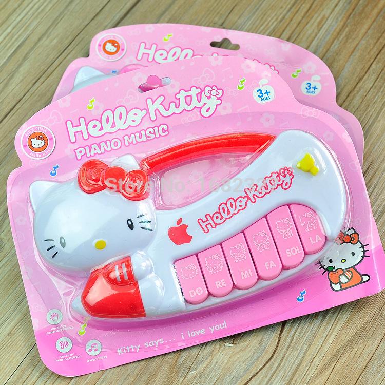 Cartoon children multifunctional electronic organ music Hello Kitty toys children girl pink toys(China (Mainland))