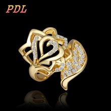 PDL Brand wedding ring as a gift tungsten ring Famous brand 18k gold ring