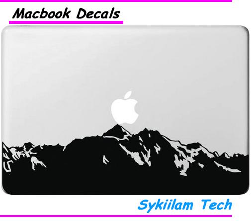 Huge Mountains Peak for Apple Logo Vinyl Sticker for Macbook Skin Air 11 13 Pro 13 15 17 Retina Laptop Creative Local Decal(China (Mainland))