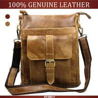 Nubuck genuine leather men bag casual man crossbody bag vintage men's shoulder messenger leather briefcase bags