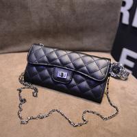 2015 spring classic sewing thread plaid chain women's handbag one shoulder cross-body bags small delicate lock mini bag