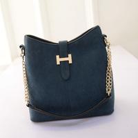 2015 women's spring fashion handbags nubuck leather bucket bag one shoulder cross-body handbag female bags