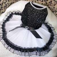 Pet wedding dress princess dress dog clothes teddy evening dress