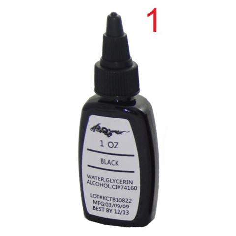 5pcs BLACK professional tattoo ink 30ml 1OZ dragonhawk tattoo ink permanent make pigment(China (Mainland))