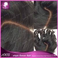 Cheap Silk Base Closure,Human Hair Brazilian Body Wave Silk Base Closures 4x4 Free Middle Part Virgin Hair Silk Closure In Stock