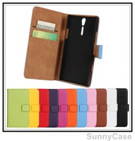 Magnetic Stand Wallet Leather Case for Sony Xperia S Arc HD LT26i