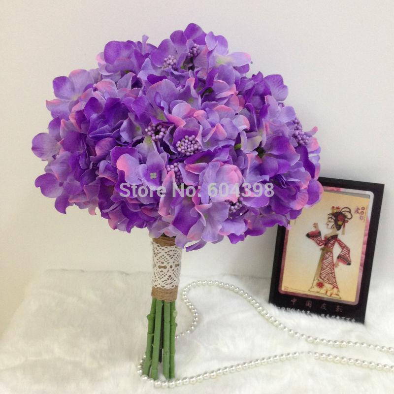 Achetez en gros mariage fleurs d 39 hortensia en ligne des grossistes mari - Vente a terme avec bouquet ...
