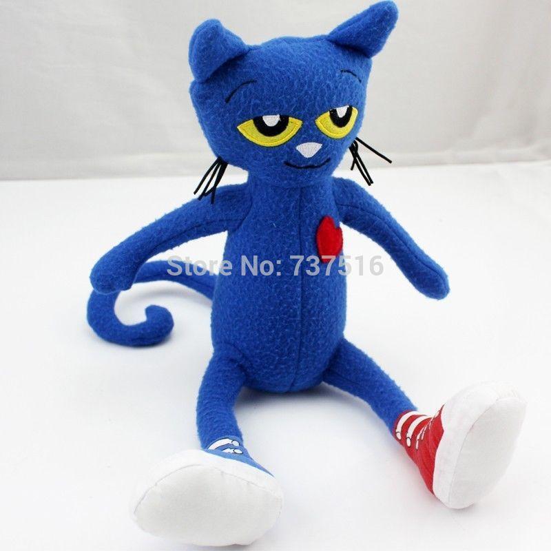 Free Shipping Pete the Cat Plush Doll 14.5 inches New Stuffed Animals & Plush Toys(China (Mainland))