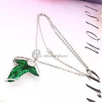 The Rings Green Leaf Elven Pin Brooch Pendant With Chain Necklace 2015 New Fashion
