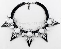 Hot Sale Daisy Flower Necklaces & Pendants Soft Cotton Collar Statement Necklace 2015 New Women Charm Jewelry Fashion Necklace