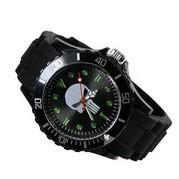 Marvel Super Hero Punisher Skull Metal Black Silicone Watch Wrist For Boy Man Wholesale