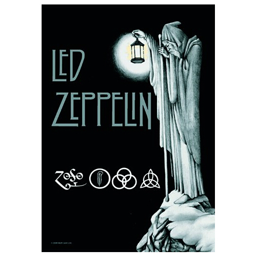 2014 New Led Zeppelin  Home Decoration Movie Poster Custom Fashion Classic 50x75CM Wall Sticker Free Shipping KO/373993(China (Mainland))
