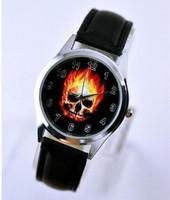 Marvel Super Hero Ghost Rider Fashion Skull Watch Wrist Xams Child Boy Free Shipping