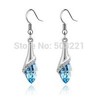 2015 New Style Genuine Crystal Earrings Stud Earrings For Women Jewelry SP129 Free Shipping
