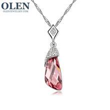 New Party Charm Fashion Jewelry /Retro Irregular Rhinestone Necklaces /Crystal Flower Drop Necklaces for OlenJewellry(China (Mainland))