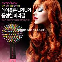 New Arrival Eyecandy Rainbow waved Hair Brush Comb Tangle Hair Brush+ Original box freeshipping