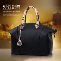 Fu Jiani supply 2015 new bags leather snake satchel fashion leather shoulder bag