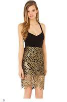 Fashion Lady Black Gold Skirt Set LC60003