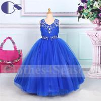Latest Handmad Applique Princess Flower Girl Dress 2015 A Line Vestido De Festa Girls Party Dresses Little Girls Pageant Dresses