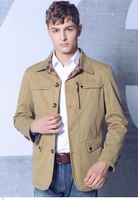Autumn and Winter 3 Colors Outerwear Mens Slim Fit Lapel Single-breasted New Arrival Fashion Jacket Cotton High Quality LC12008