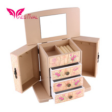 2015 New Arrival Butterfly Flower Wooden Large Jewelry Box Closet