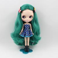 Fashion toy Nude Doll Dark green hair birthday gift 30cm Boutique doll