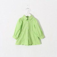 3 color children girl cotton shirts blouse 2-7 years