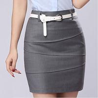 Plus size S-3XL Pencil Skirts 2015 Summer Women's Workwear Formal Saias Femininas Ladies Gray Black Mini Short Office Skirt