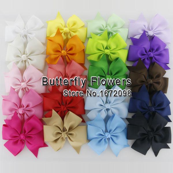 4.3'' Handmade Grosgrain Ribbon Hair Bows,Baby Girls Boutique HairBows,Kids Grament/Weeding/Hair Accessories(China (Mainland))