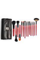 15PCS Black Snake Print Cosmetic Brush Set  LC0248