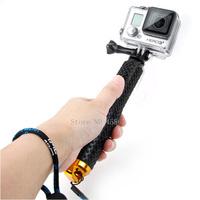 2015 New gopro Aluminum selfie Extendable Pole Telescoping Handheld Monopod with Mount Adapter for GoPro Hero 1 2 3 3+ 4 SJ4000
