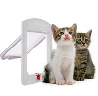 2015 new Safe Pet Cat Small Dog 4-Way Locking Lockable Door Flap Catflap