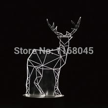 3D LED Nightlight minimalist wood animal decoration lamp / New Year gifts birthday gift creative table lamps(China (Mainland))