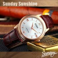 DOM classic business gift leather strap men quartz watch elegant mens designer watches vintage luxury wristwatch for men