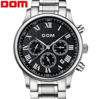 DOM brand luxury men self-wind watches full steel mens automatic mechanical business watch relogio masculino reloj mujer