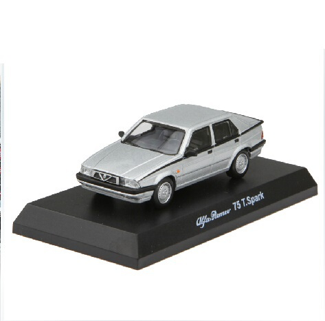 Freeshipping,Kyosho 1/64 Diecast Model Alfa Romeo 75 T.Spark Silver(China (Mainland))