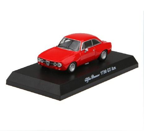 Freeshipping,Kyosho 1/64 Diecast Model Alfa Romeo 1750GT Am Red(China (Mainland))