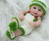 Lifelike Reborn Doll 11inch  Full  vinyl  Small Smile  Baby Boy  Doll Great  Kids Gift