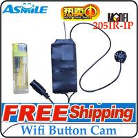Wireless Button mini Camera Mini DVR+2.4G wireless remote control Free Shipping