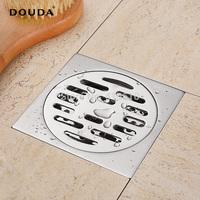 Deodar bathroom 304 anti-odor stainless steel floor drain washing machine large displacement floor drain