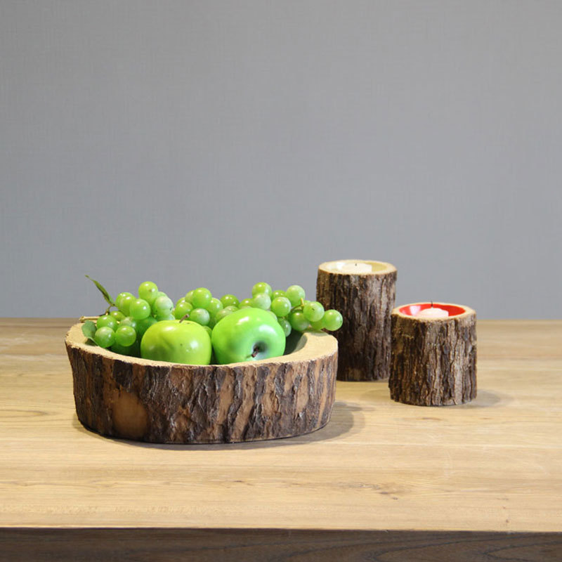 Daqian home accessories wood resin fruit plate model room furnishings kitchen table living room coffee table ornaments(China (Mainland))