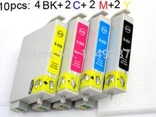 10 ink cartridge (2set+2BK) compatible T0631-T0634  for Epson Printer Stylus CX3700 CX4100