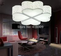 Bedroom lamp heart acrylic ceiling light four leaf grass modern brief led living room lights restaurant lamp