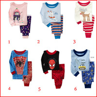 [BOS.] 2015 new 2 pcs set cotton chidlren suit baby pajamas of the children pyjamas kids baby clothing 866#
