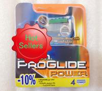 Free Shipping 4pcs/lot  Best Quality Proglide Power 4S Shaving Razor Blades For Men sharpener shaving razor blades