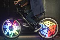 YQ8005 LED Spoke Light Waterproof Programmable 20-24 inch bike bicycle wheel monkey light can display real photos